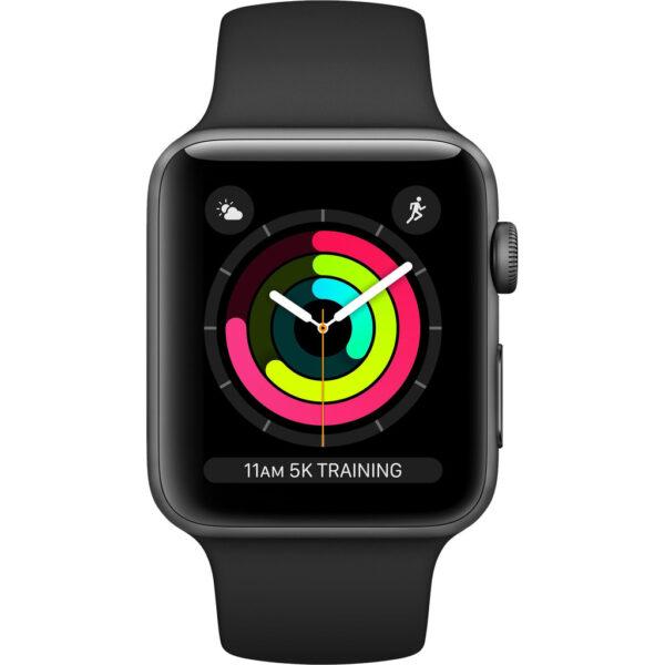Apple Watch Series 3 38mm Space Gray Aluminium/Zwart