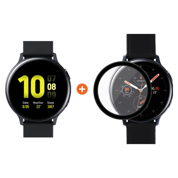 Samsung Galaxy Watch Active2 Zwart 44 mm Aluminium + PanzerGlass Samsung Galaxy Watch Acti