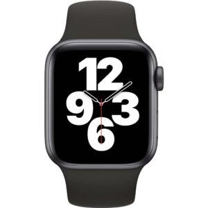 Apple Watch SE 40mm Space Gray Aluminium Zwarte Sportband
