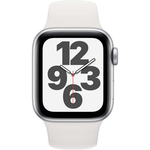 Apple Watch SE 40mm Zilver Aluminium Witte Sportband
