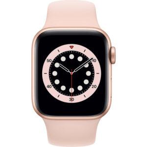 Apple Watch Series 6 40mm Roségoud Aluminium Roze Sportband
