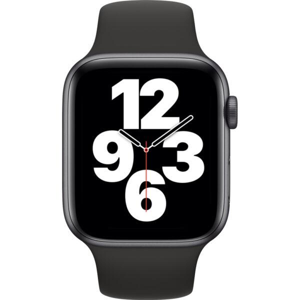 Apple Watch SE 44mm Space Gray Aluminium Zwarte Sportband