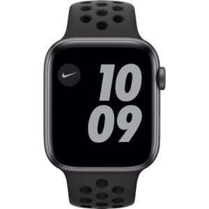 Apple Watch Nike SE 44mm Space Gray Aluminium Zwarte Sportband
