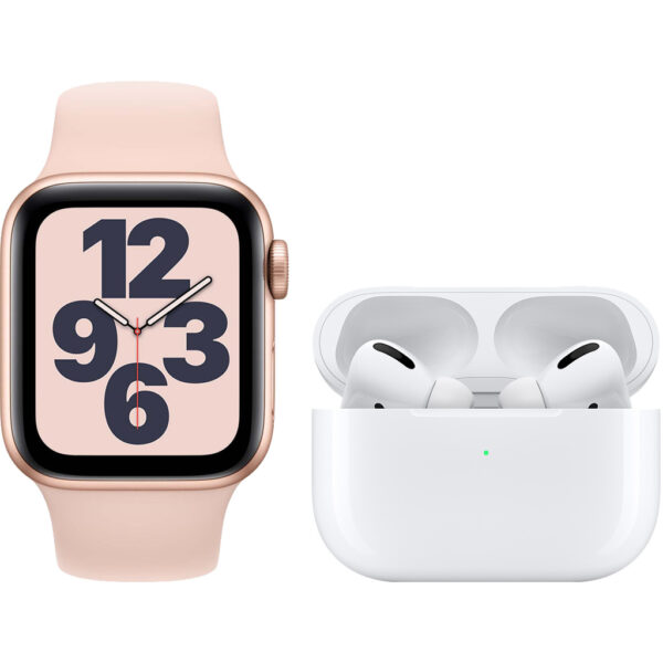 Apple Watch SE 40mm Roségoud Roze Bandje + Apple AirPods Pro